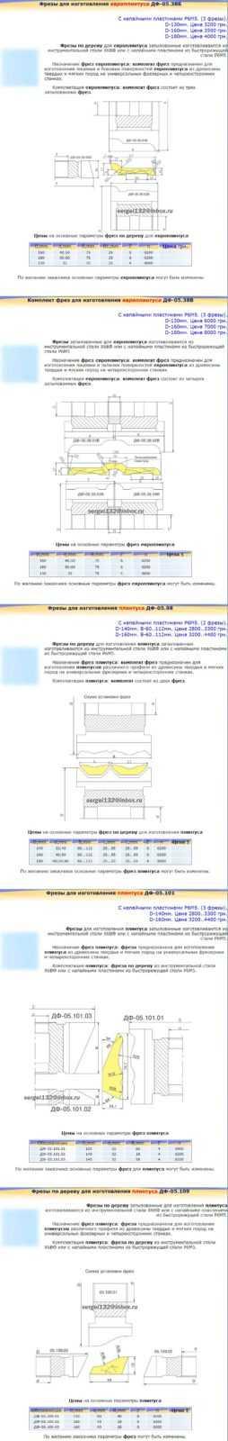 Фрезы для изготовления плинтуса-3