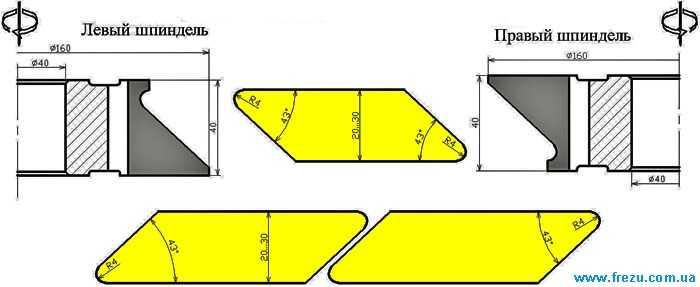 Фрезы для фасадов обшивочной доски планкен (ромбус)