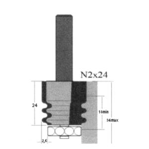 Фреза GLOBUS 2600 d8-N2×24-B18-34