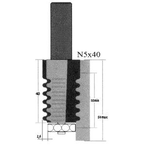 Фреза GLOBUS 2600 d12-N5×40-B35-50