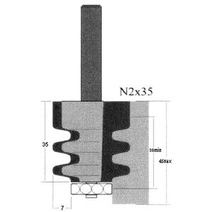 Фреза GLOBUS 2601 d12-N3×45-B40-55