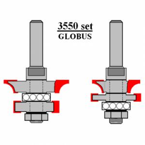 Фреза GLOBUS 3550set для изготовления вагонки d8-D38-h21