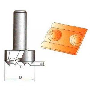 Фреза GLOBUS 1101 пазовая прямая d8-D2,5-h6-z1