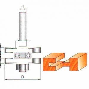Фреза GLOBUS 3523set комбинированная пазошиповая d12-D46-h20