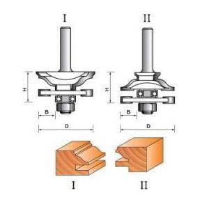 Фреза GLOBUS 3504set комбинированная рамочная d12-D42-h20