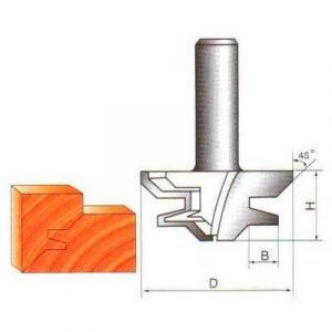 Фреза GLOBUS 2510 пазошиповая (для углового сращивания) d8-D50-h22