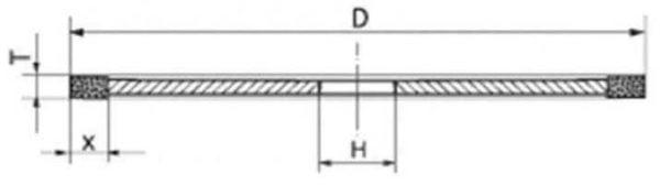 Круг алмазный отрезной B1-13 (1А1R) D150-t1,2-x5-d32 100/80