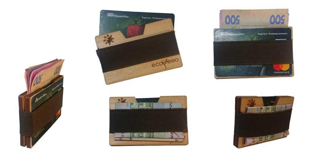 Картхолдер тримач для карток з дерева